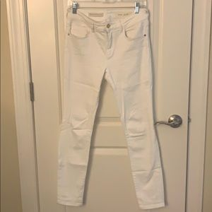 Anthropologie white skinny jeans